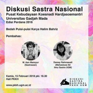 Diskusi Sastra Nasional Pusat Kebudayaan Koesnadi Hardjasoemantri