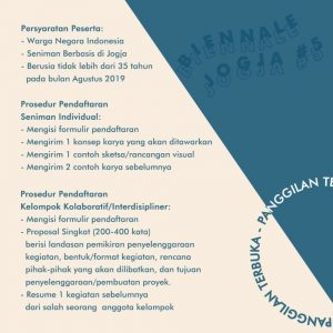 Open Call 5 Seniman Yogyakarta di Biennalle Jogja Equator #5