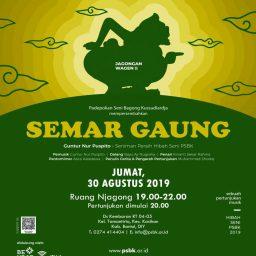 Pertunjukan 'Semar Gaung' di Jagongan Wagen PSBK Yogyakarta