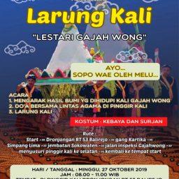 Larung Kali Lestari Gajah Wong