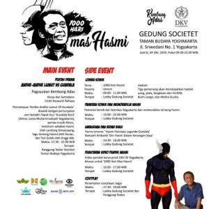 Peringatan 1000 Hari dengan Mengenang Mas Hasmi Gundala Putera Petir di Taman Budaya Yogyakarta
