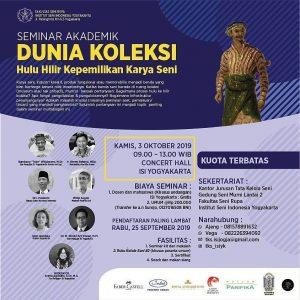 Seminar Dunia Koleksi Hulu Hilir Kepemilikan Karya Seni di Institut Seni Indonesia Yogyakarta