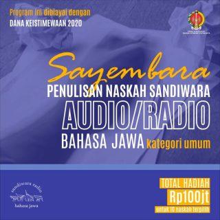 Sayembara-dan-Lomba-Penulisan-Naskah-Sandiwara-Radio-Bahasa-Jawa-Tahun-2020