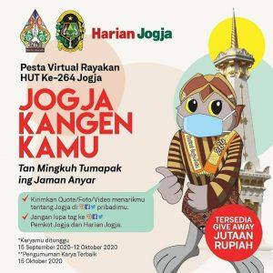 Pesta Virtual Jogja Kangen Kamu Digelar guna Menyambut Hari Jadi Kota Jogjakarta ke-264