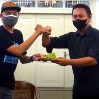 Potong Tumpeng -YGF Yogyakarta Gamelan Festival 2021 Digelar Secara Virtual