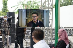 Sambutan Virtual Sandiaga Uno di Penutupan FKY tahun 2021